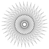 Abstract circular element. Radiating lines forming a geometric c. Ircle. Abstract spiral, swirl motif, mandala Stock Images