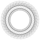 Abstract circular element. Radiating lines forming a geometric c. Ircle. Abstract spiral, swirl motif, mandala Royalty Free Stock Photography