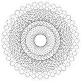 Abstract circular element. Radiating lines forming a geometric c. Ircle. Abstract spiral, swirl motif, mandala Stock Photo