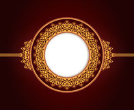 Abstract circular frame design Royalty Free Stock Image
