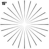 Abstract Circular Geometric Burst Rays On White. EPS 10 vector Stock Photos