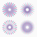 Abstract circular geometric shapes. stock illustration