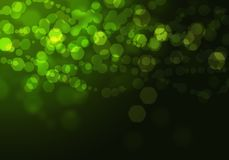 Abstract circular green bokeh background. Graphic resources design template Royalty Free Stock Photos