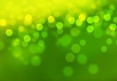 Abstract circular green bokeh background. Stock Photography