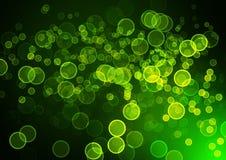 Abstract circular green bokeh background. Graphic resources design template Stock Photos