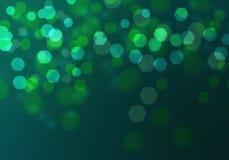 Abstract circular green bokeh background. Royalty Free Stock Photo