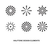 Halftone dots forms. Abstract circular halftone dots forms. Vector illustration Royalty Free Stock Photo