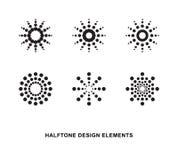 Halftone dots forms. Abstract circular halftone dots forms. Vector illustration Stock Photos