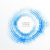 Abstract circular halftone frame background. Illustration Royalty Free Stock Photos