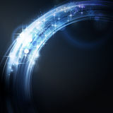 Abstract circular light border with stars