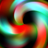 Abstract circular orange lines on black background. Vivid colorful circular abstract lines in pastel colors, in orange and red hues in motion with shades on vector illustration