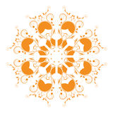 Abstract circular ornament orange. On a white background Royalty Free Stock Photos