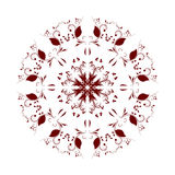 Abstract circular pattern burgundy. A white background Royalty Free Stock Image