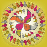 Abstract circular pattern of colorful Stock Photo