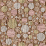 Abstract circular pattern - different colors, Blasted Oak Groove Stock Photos