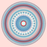 Abstract circular pattern. On a light pink background Stock Photo