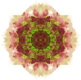 Abstract circular pattern. Mandala. Hand drawing watercolor Royalty Free Stock Image
