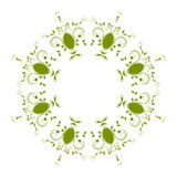 Abstract circular pattern pistachio color. A white background Stock Photos