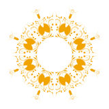 Abstract circular pattern yellow. A white background Royalty Free Stock Photography