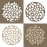 Abstract circular patterns Royalty Free Stock Photos