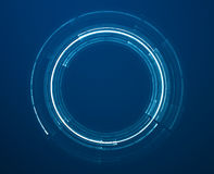 Abstract circular science fiction futuristic background. Abstract blue circular science fiction futuristic background Royalty Free Stock Photo