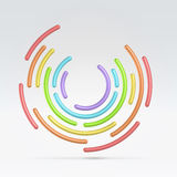 Abstract circular segmented background Stock Images