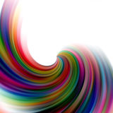 Abstract circular soft lines on white background. Vivid colorful circular abstract lines in pastel colors, in blue, yellow, green, violet and red hues in motion Stock Photography