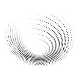 Abstract circular spotted shape. Halftone dots effect. Logo design element. Vector background Stock Photography