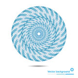 Abstract circular symbol of the blue lines and spots with space Royalty Free Stock Photo