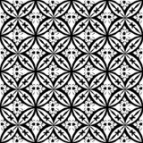 Black and white floral Abstract Geometric Seamless Vector Print Pattern royalty free illustration