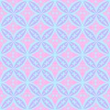 Pink and Blue Abstract Circular Tiles Seamless Vector Pattern. Geometric texture. Repeating background. Abstract Circular Tiles Seamless Vector Pattern royalty free illustration
