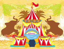 Abstract circus on a grunge background Royalty Free Stock Images