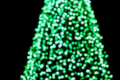 Abstract cirkel groen bokehdeel van Kerstboom Royalty-vrije Stock Afbeeldingen