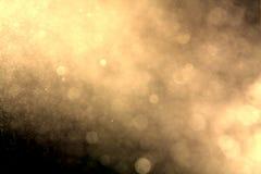 Abstract cirkelgoud bokeh Stock Afbeeldingen