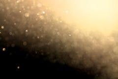 Abstract cirkelgoud bokeh Royalty-vrije Stock Afbeeldingen