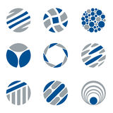 Abstract Cirkellogo and design elements royalty-vrije illustratie