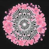 Abstract cirkelornament royalty-vrije illustratie