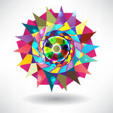 Abstract cirkelpatroon van heldere multi-colored driehoeken Vector Illustratie