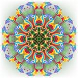 Abstract cirkelpatroon van multicolored geometrisch Royalty-vrije Stock Afbeeldingen