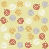 Abstract Cirkels Naadloos Vectorpatroon Royalty-vrije Stock Afbeeldingen