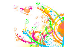 Abstract Cirlce Background. Abstract colorful background illustration with high detail Stock Photo