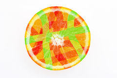 Abstract citrus fruit Stock Photography