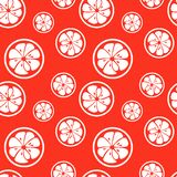 Abstract citrus fruit seamless pattern. Vector Stock Photo