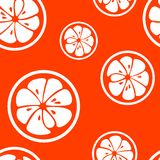 Abstract citrus fruit seamless pattern. Vector Royalty Free Stock Photos
