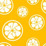 Abstract citrus fruit seamless pattern. Vector Royalty Free Stock Photo