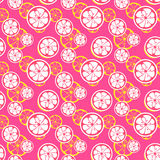 Abstract citrus fruit seamless pattern. Vector Stock Image