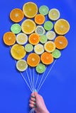 Abstract Citrus fruits  bouquet Royalty Free Stock Photos