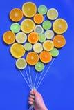 Abstract Citrusvruchtenboeket royalty-vrije stock foto's