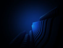 Abstract city. 3d abstract blue city background Royalty Free Stock Image