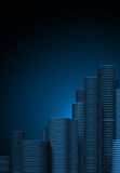 Abstract city. Abstract 3d blue city background Stock Photography
